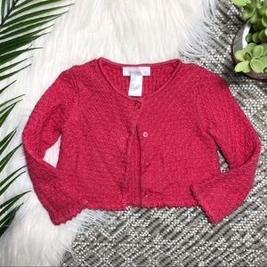 Janie & Jack Pink Sweater Cardigan